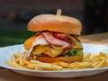 Pštrosí hamburger